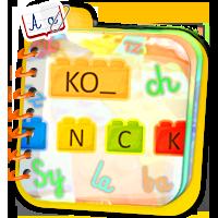 Wyrazy z liter - ćwiczenia z liter, głosek i sylab
