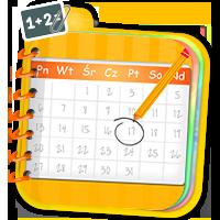 Ćwiczenia z kalendarza - quizy matematyczne - Zdob
