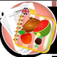 Jedzenie i picie - słówka angielskie - FOOD karty pracy - Karty pracy Angielski