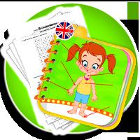 Części ciała po angielsku - wydrukuj i powtarzaj - Karty pracy Angielski