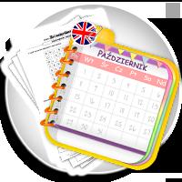Nauka kalendarza po angielsku - ćwiczenia do wydruku - WEEEK and MONTH karty pracy - Karty pracy Angielski