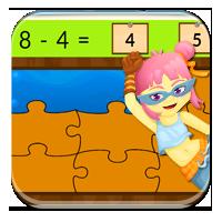 Gry odejmowanie - Odejmowanie - puzzle - Zdobywcy
