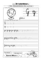 Nauka pisania litery G