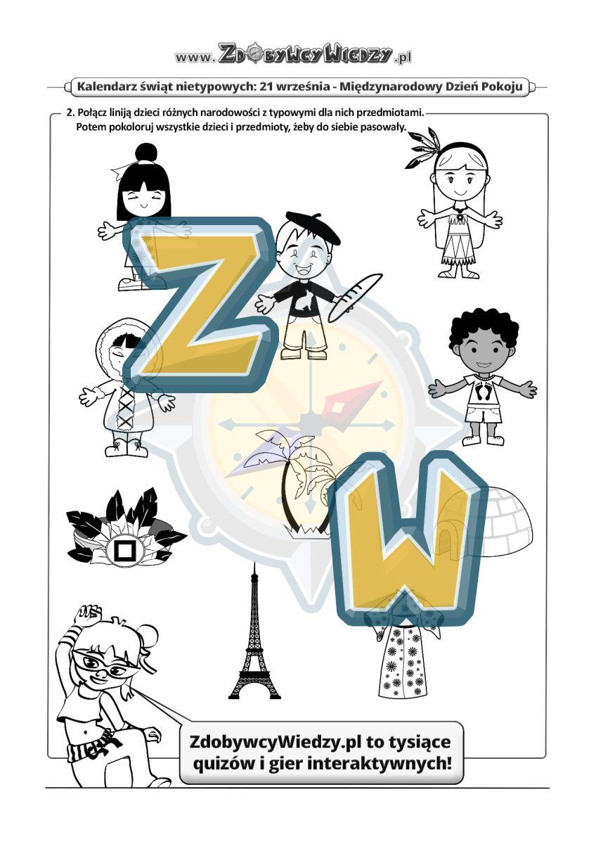 Zdobywcy Wiedzy - karta pracy pdf - Pokój na świecie - zadanie dla wszystkich! (strona 2)