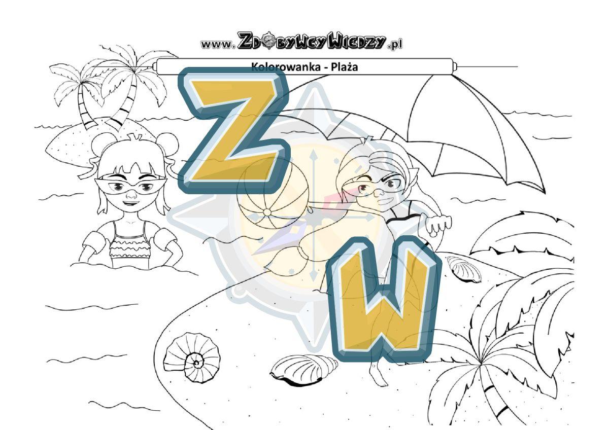 Zdobywcy Wiedzy - karta pracy pdf - Ciekawa kolorowanka dla brzdąca (strona 1)