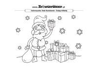 MIKOŁAJ Z PREZENTAMI - Mikołaj z prezentami - malowanka świąteczna do druku - Kolorowanki - Co dziś świętujemy?