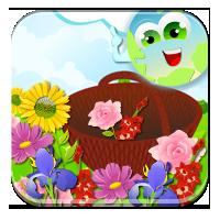 Działania na zbiorach - Koszyk pełen kwiatów - Zdo