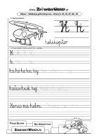 Karta pracy litera H