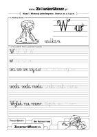 Szablon do pisania litery W