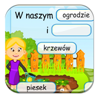 Ćwiczenia z rzeczownikiem - Nasz piesek Reksio - Z