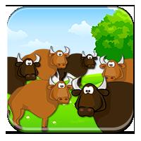 Elementy w zbiorach - Policz uciekające zwierzęta!