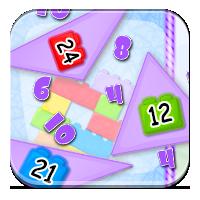 Obwód trójkąta dla dzieci - Kolorowe trójkąty - Zd