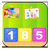 Pisanie liczb za pomocą cyfr - Liczby z klocków -