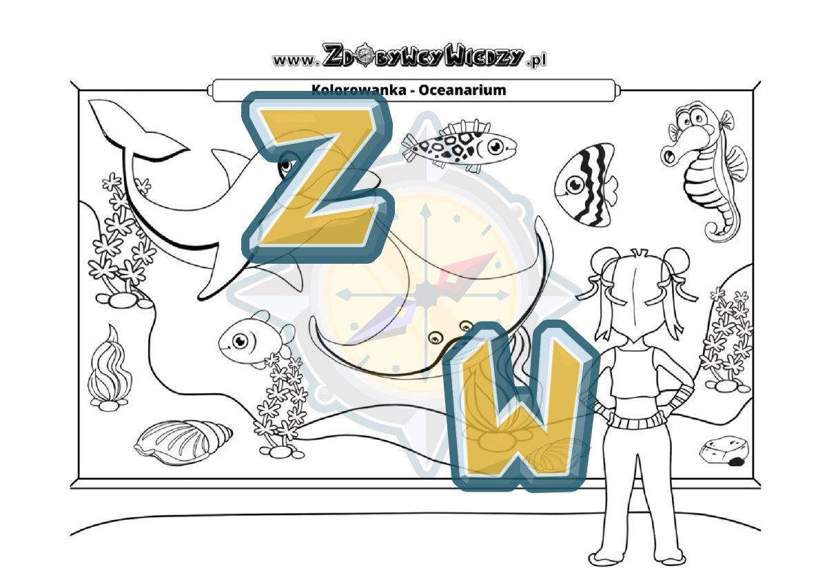 Zdobywcy Wiedzy - karta pracy pdf - Wydrukuj i daj dziecku kolorowankę (strona 1)