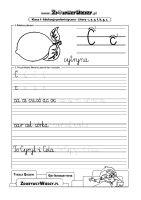 Szablon do nauki pisania litera C