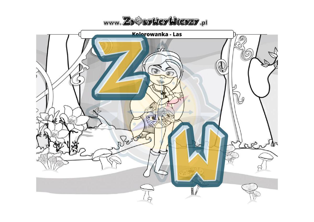 Zdobywcy Wiedzy - karta pracy pdf - Malowanka dla dziecka - zabawa, która rozwija (strona 1)