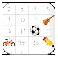 Nauka miesięcy - Kalendarz z zajęciami - Zdobywcy