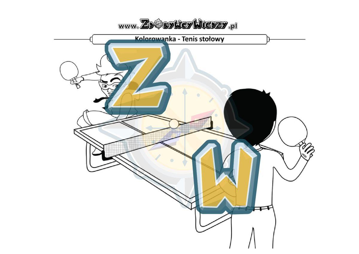 Zdobywcy Wiedzy - karta pracy pdf - Malowanka - świetna zabawa dla znudzonego malucha (strona 1)