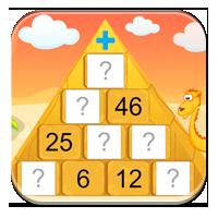 Gry dodawanie od 0 do 100 - Czarodziejska piramida