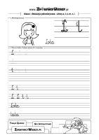 Alfabet nauka pisania