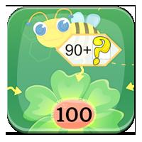 Liczenie do 100 - Pszczółki z dziesiątkami - Zdoby