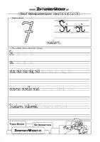Ćwiczenia pismo elementarzowe