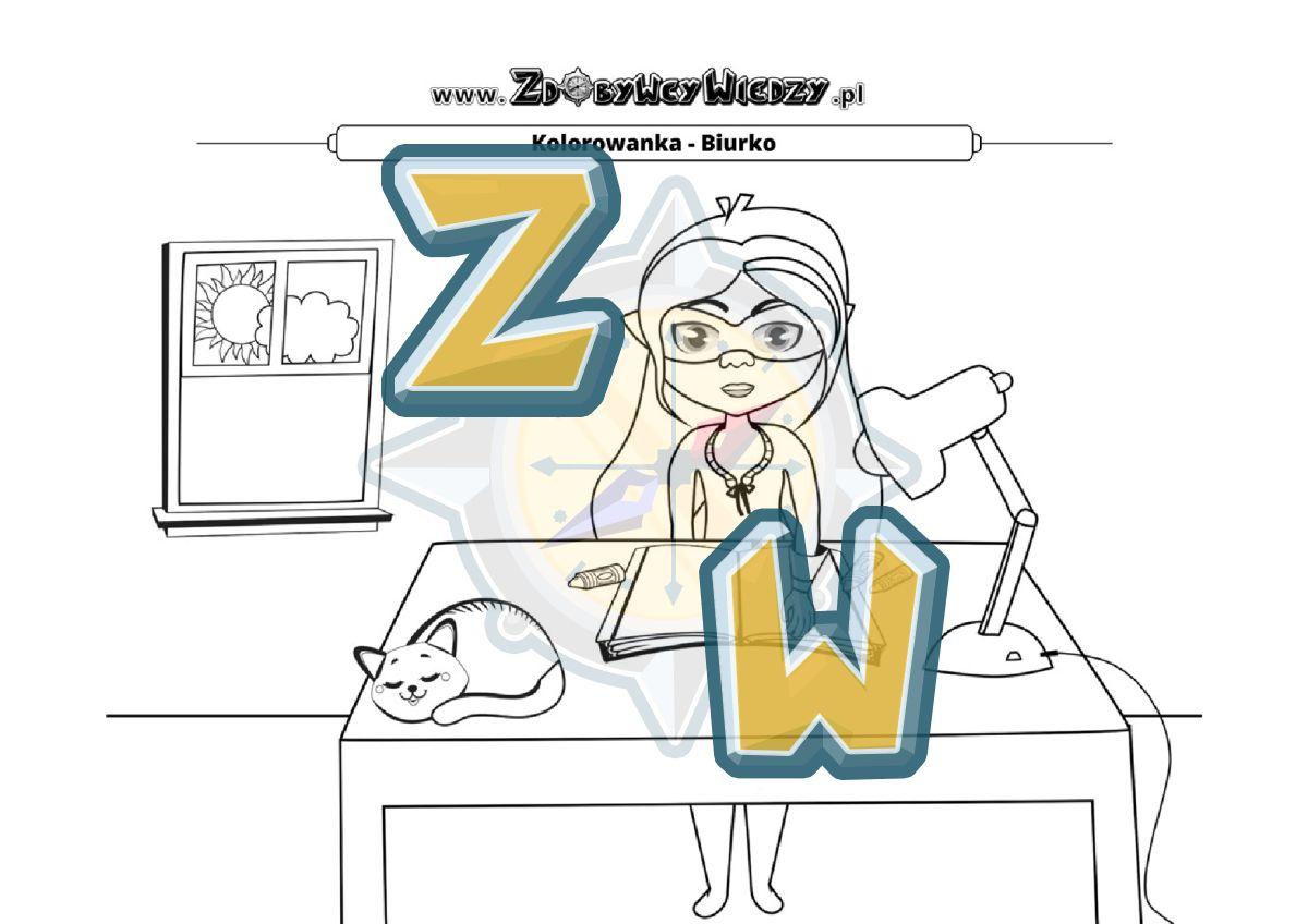 Zdobywcy Wiedzy - karta pracy pdf - Malowanie rozwija (strona 1)