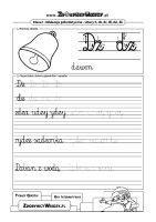 Czcionka jako pismo szkolne