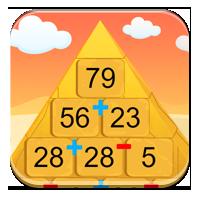 Działania dodawanie i odejmowanie - Piramida Sfink