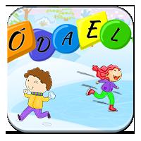 Utrwalanie pisowni wyrazów - Zimowy latawiec - Zdo