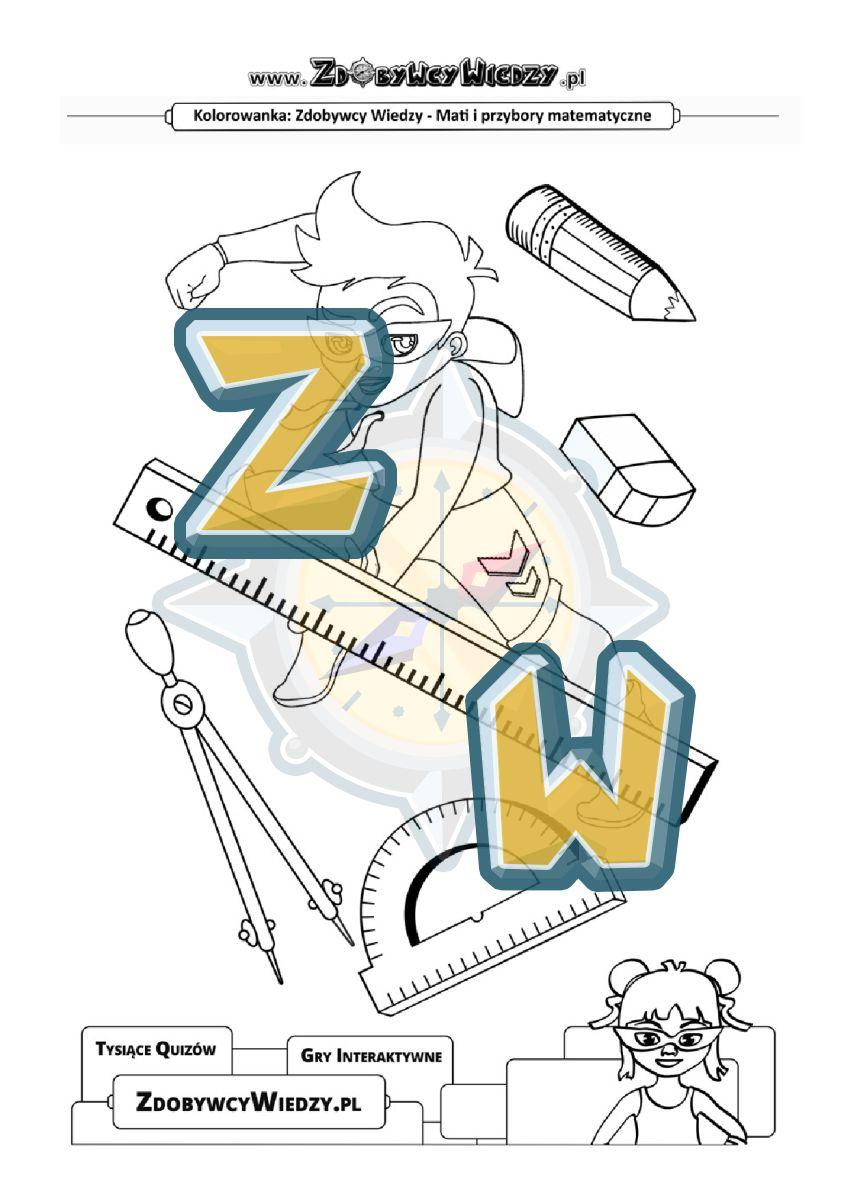 Zdobywcy Wiedzy - karta pracy pdf - Malowanka przeznaczona dla kilkuletniego dziecka (strona 1)
