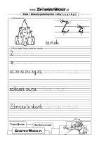 Arkusz do nauki pisania litery Z
