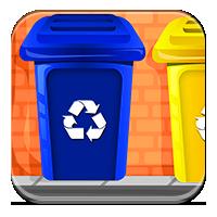 Recykling dla dzieci - Kolorowe pojemniki - Zdobyw