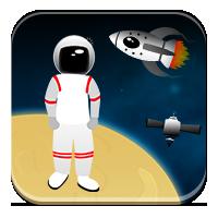 Zadania z głoskami - Ciekawski astronauta - Zdobyw