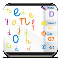 Rozpoznawanie liter - Literki na czas - ZdobywcyWi