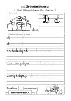 Nauka pisania litery D