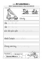 Pismo elementarzowe Alfabet