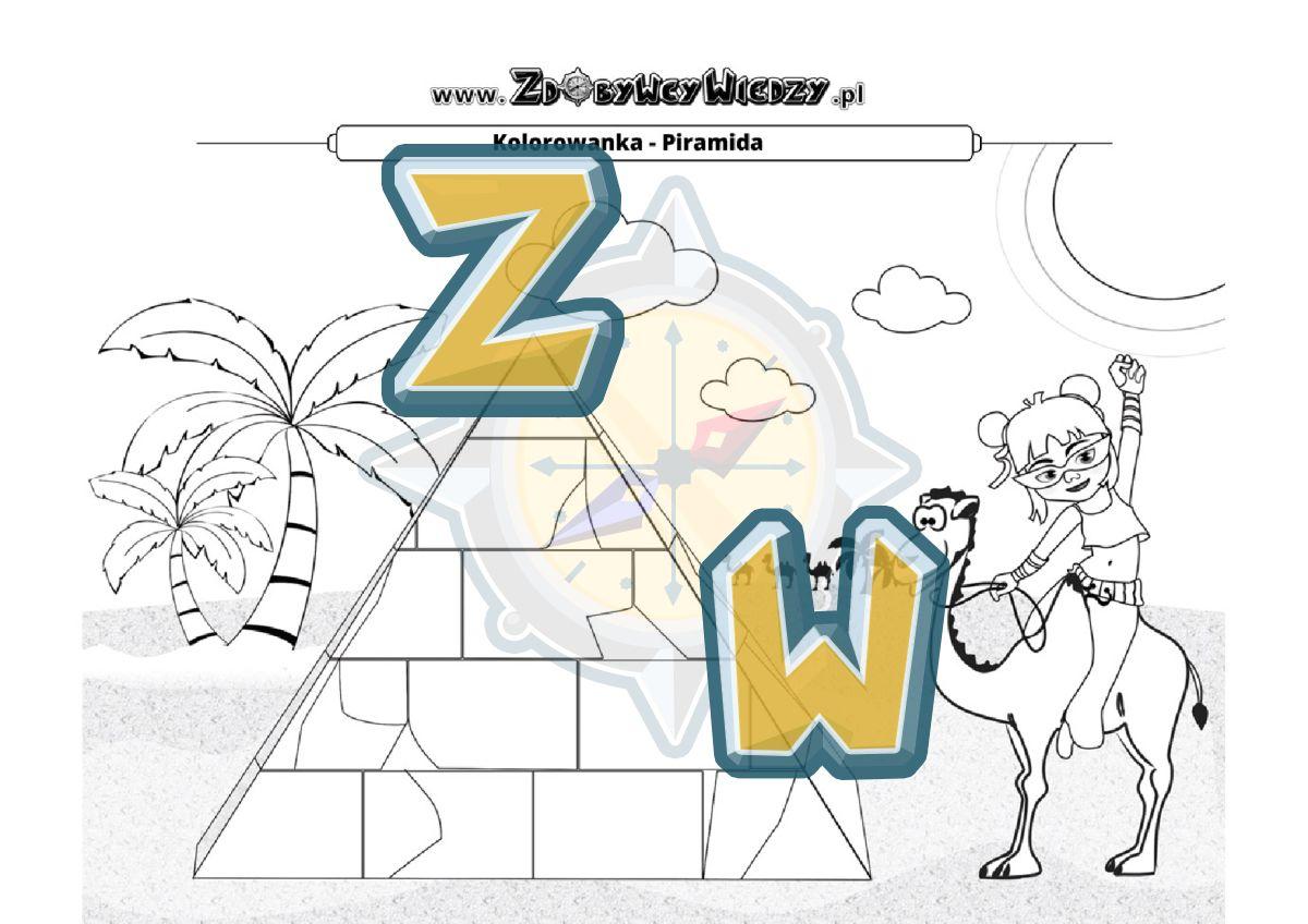 Zdobywcy Wiedzy - karta pracy pdf - Pomaluj obrazek tak, jak chcesz (strona 1)