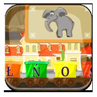 Nauka pisania wyrazów z liter - Zwierzęta z liter