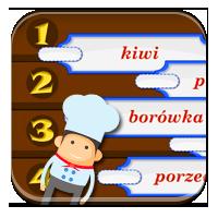 Układanie wyrazów z liter - Owocowy alfabet - Zdob