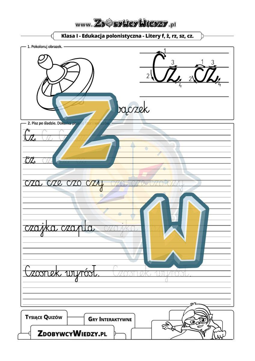 Zdobywcy Wiedzy - karta pracy pdf - Pismo odręczne - metody na efektywną naukę pisania (strona 1)