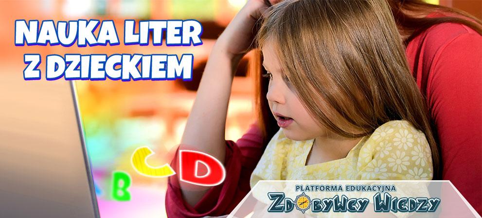 Nauka liter z dzieckiem