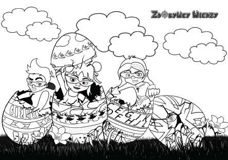 Wielkanocna kolorowanka - Jajeczko