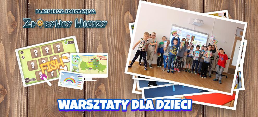Warsztaty dla dzieci ze Zdobywcami Wiedzy