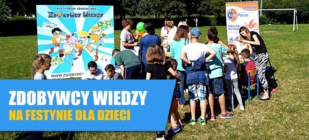Zabawy Dla Dzieci Na Festynie Multimedialna Rozrywka Zdobywcy Wiedzy