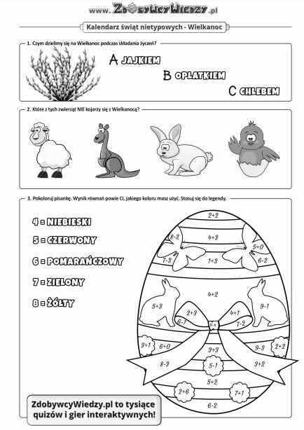 Wielkanocna karta pracy